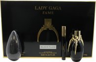Lady Gaga Fame Gift Set 50ml EDP + 10ml Roller Ball + 142g Soap