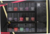 Active Cosmetics Glamour Nail Bar Selection 15 x 5ml Nail Lacquers + 2 x Toe Separators + Nail File + 25 x Nail Gems