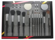 Active Cosmetics Professional Cosmetics Brush Set 4 Applicators + Sponge + Mirror + 12 Brushes
